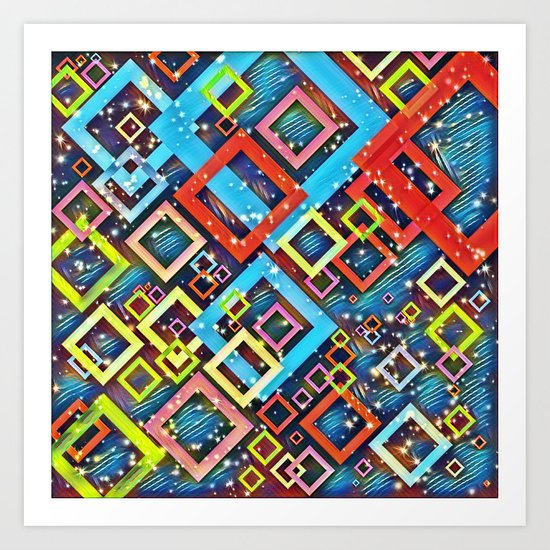 sparkling check pattern A Art Print