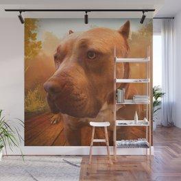 ARTHUR (shelter pup) Wall Mural