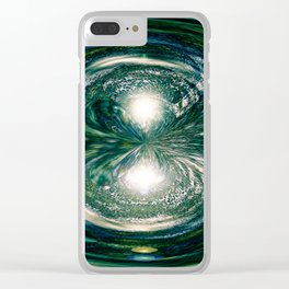 """""""Flux Remixed"""" Clear iPhone Case"""