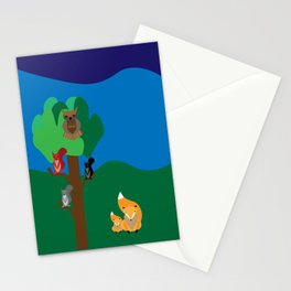 A woodland scene Stationery Cards