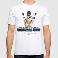 Thug Cat LARGE Ash Grey Mens Fitted Tee