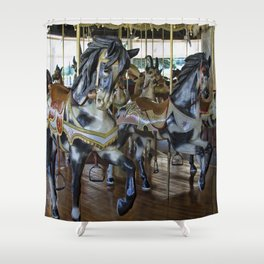 Prancing Ponies Shower Curtain