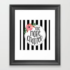 One More Chapter - Black Stripes Framed Art Print