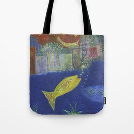 Just Like I Pictured It / Fish in the City Series #1 Tote Bag