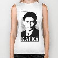 kafka Biker Tanks featuring KAFKA by Lestaret