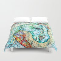 horse Duvet Covers featuring Horse by Kate Fitzpatrick