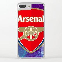 Arsenal FC Galaxy Clear iPhone Case
