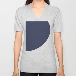 Geometric Art Blue Navy 2009 Unisex V-Neck