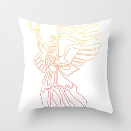 Berlin Angel Single Line Throw Pillow
