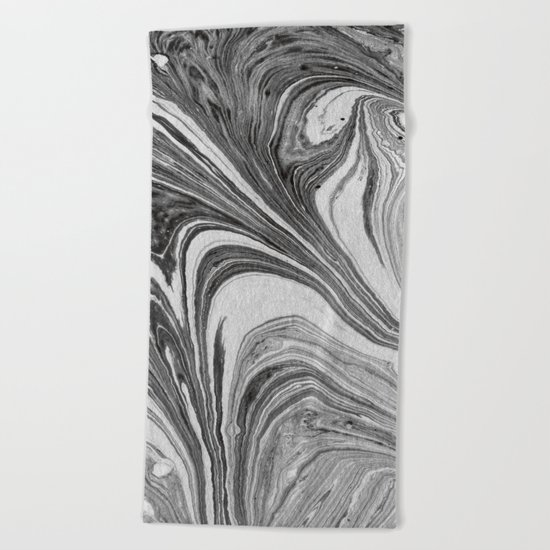 marbling 07 Beach Towel