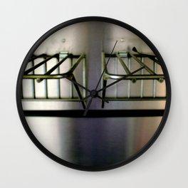 Metal On Metal Wall Clock