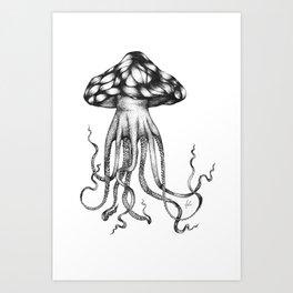 Psychedelic Octopus Art Print