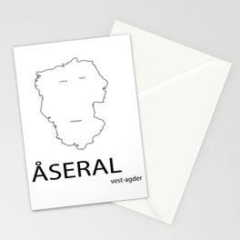 map of åseral Stationery Cards