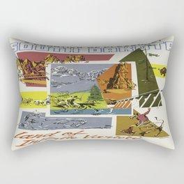 Vintage poster - South Dakota Rectangular Pillow