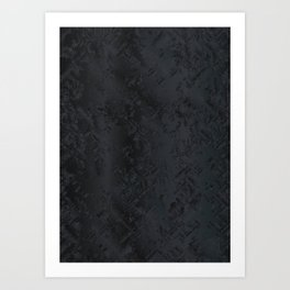 Blac And Tan Abstract Metal Background Art Print