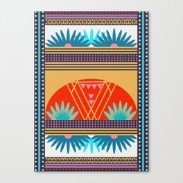Multi Geometric Love Canvas Print