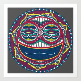 Adrenaline Mask Multicolor Art Print