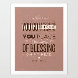Psalm 139:5 Bible Verses Art Print