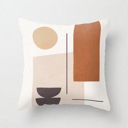 Minimal Shapes No.43 Throw Pillow
