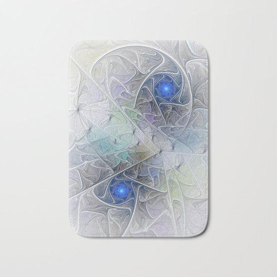 Little Blue Spirals Fractal Bath Mat
