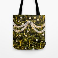 christmas tree Tote Bags featuring Christmas Tree by Pati Designs