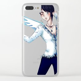 Ice Skater Katsuki Clear iPhone Case