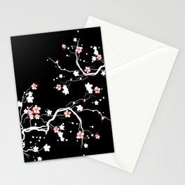 Black Cherry Blossom Stationery Cards
