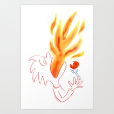 Hot Stuff! Art Print