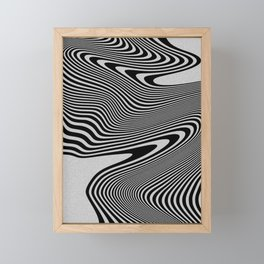 liquify line Framed Mini Art Print