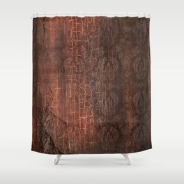 409 Aged Leather Shower Curtain