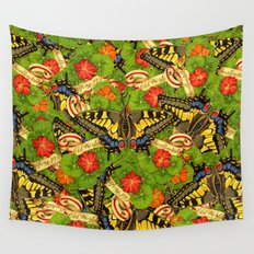 Old World Swallowtail Cacophony Wall Tapestry