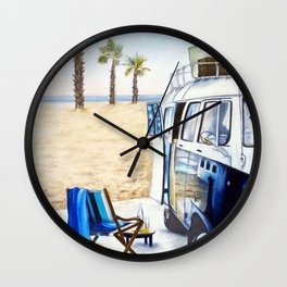 HOLIDAY AT THE BEACH Wall Clock