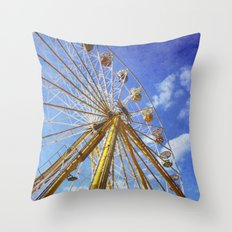 At the Funfair (3) Throw Pillow