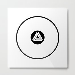 Infinity Vinyl (Invert) Metal Print