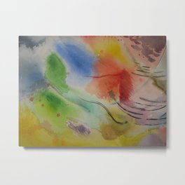 Watercolor Rhapsody Metal Print