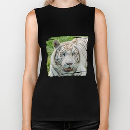 THE BEAUTY OF WHITE TIGERS Biker Tank