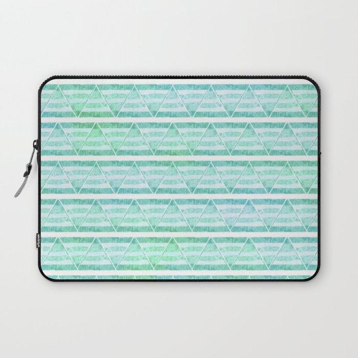 chevron blue&green Laptop Sleeve