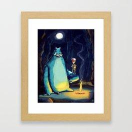Forest Feline Framed Art Print