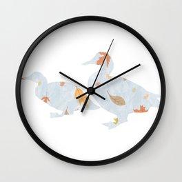 fall Mallards Wall Clock