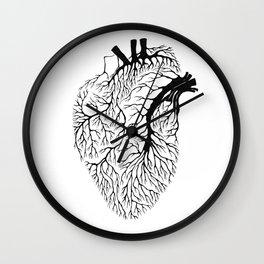 Heart Branches - Black Wall Clock