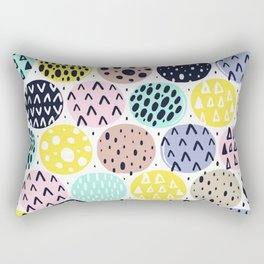 LOUD ABSTRACT POLKA DOT PATTERN Rectangular Pillow