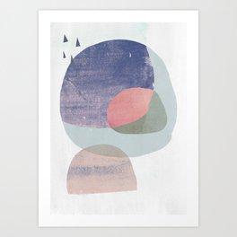 04 circles and tri purple Art Print