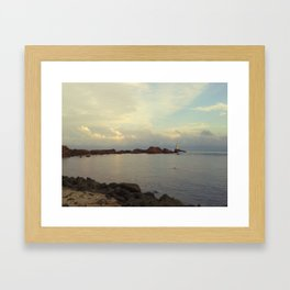 Lighthouse serenity Framed Art Print