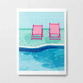 Vay-K - abstract memphis throwback poolside swim team palm springs vacation socal pool hang Metal Print