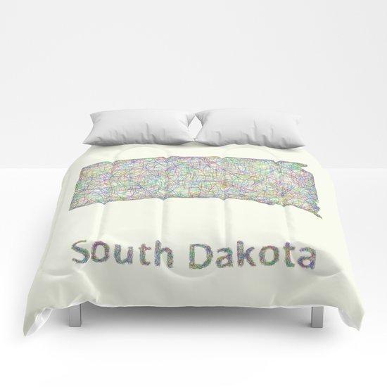 South Dakota map Comforters
