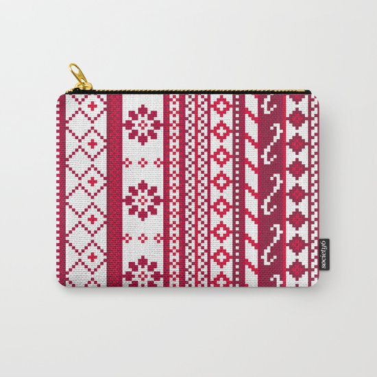 Red Fair Isle Christmas Pattern Carry-All Pouch