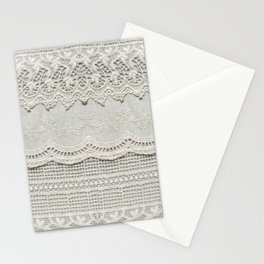 Beautiful, subtle, white laced textile close up. Good for bedroom, fashion, cloth, apparel, interior, folk, textile, ornament or background design. More of this motif & more textiles in my port. Stationery Cards