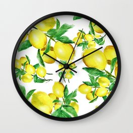 lemon Wall Clock