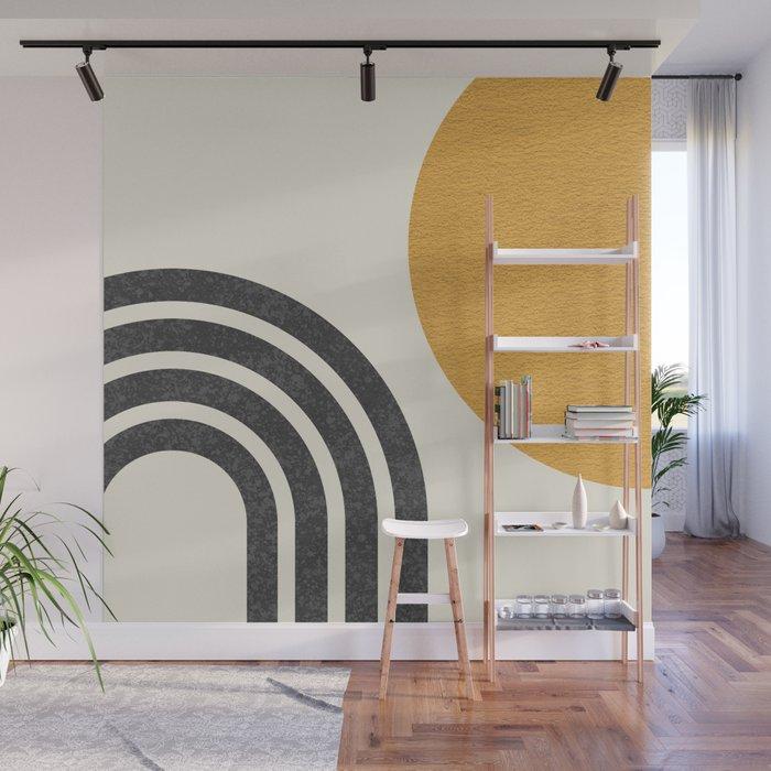 Mid century modern Sun & Rainbow Wall Mural
