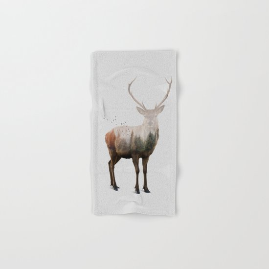 Red Deer Hand & Bath Towel